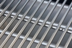 a stainless steel grill